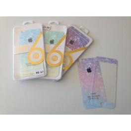 Lamina de vidrio iPhone colores trasero y delantero.