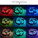 Cinta Tira Luces Led Rgb 10m - 2835 Con Transformador + Control / IP65