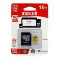 Memoria Maxell 16gb C10 C/adaptador